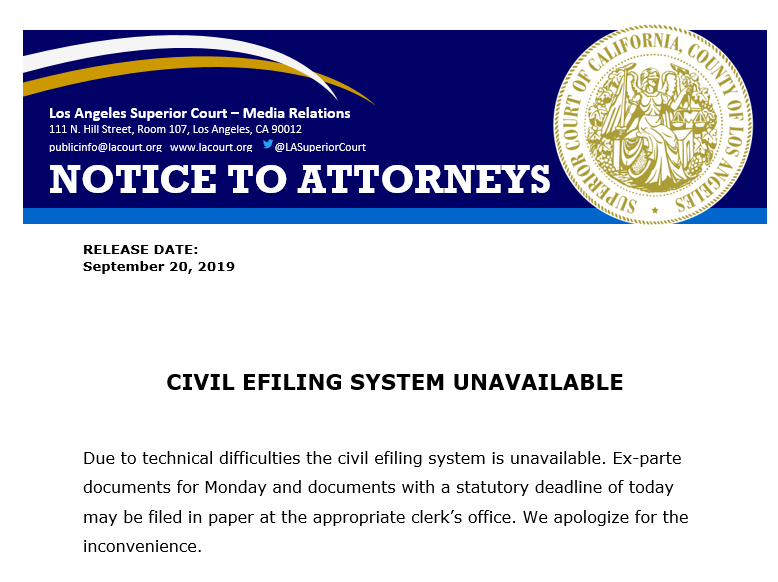 Notice to attorneys